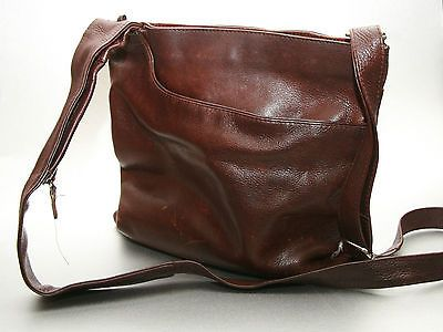 Radley leather messenger bag, Buttery soft chocolate brown.