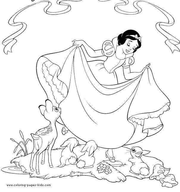 snow white and the seven dwarfs color page disney coloring pages color plate coloring