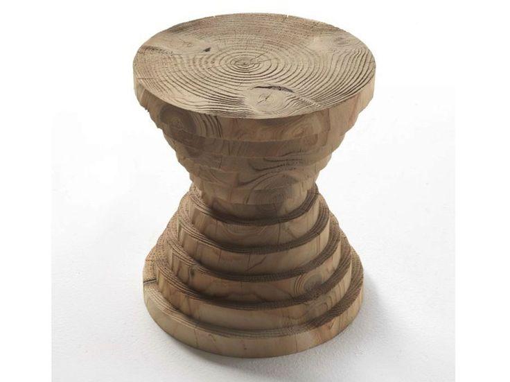 Sgabello in legno massello ASTRATI by Riva 1920 | design Michele De Lucchi
