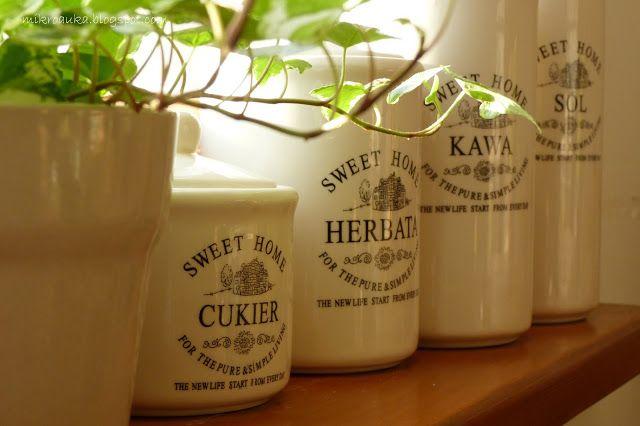 """Kawałki Mikroauki: Pojemniki ceramiczne """"Sweet Home"""""""