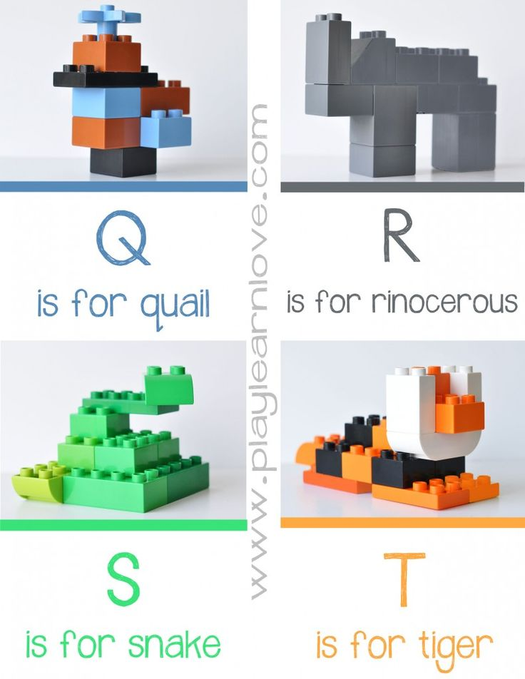 Lego Animal Alphabet Q – T