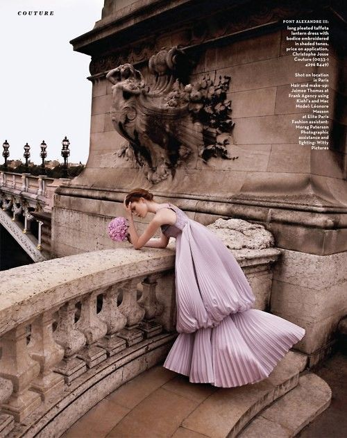 Lovely in lilac and lavender ... Alexandre III bridge, Paris