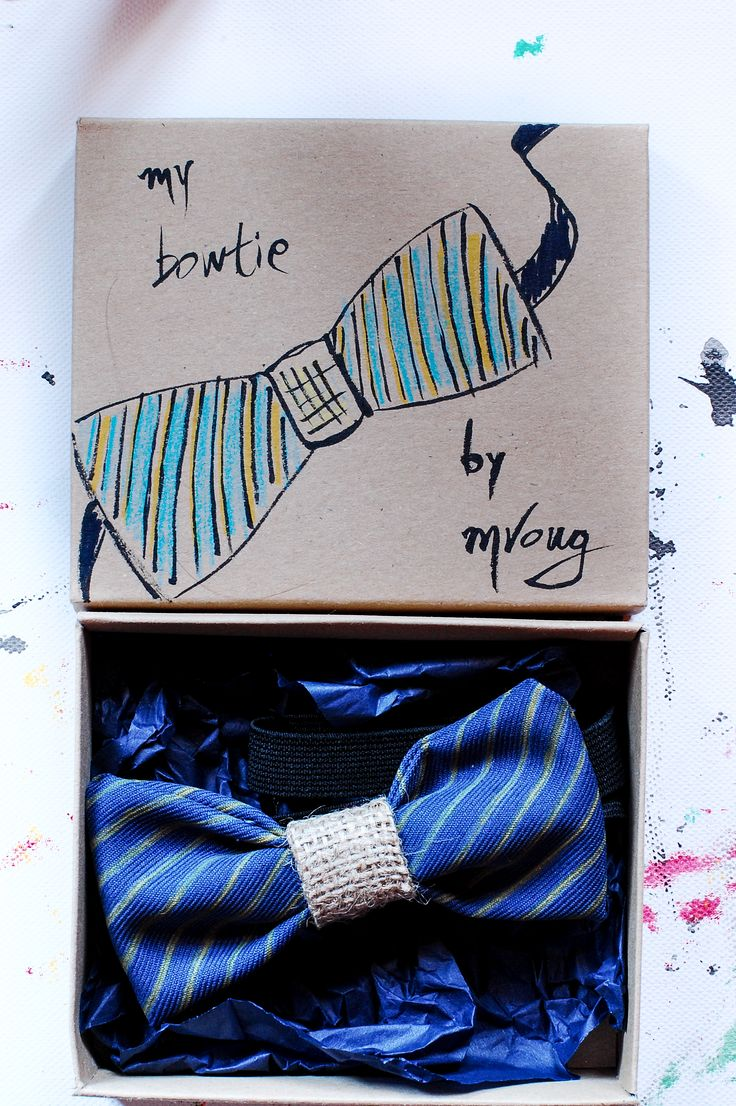 hand painted bowtie