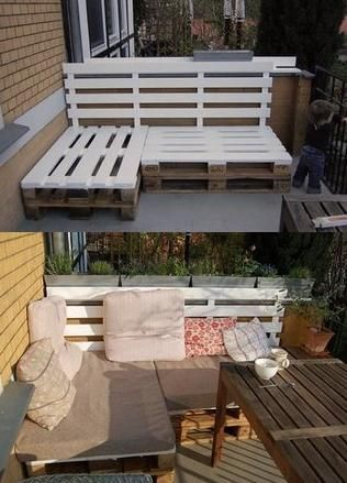 Patio furniture from pallets- very cool!