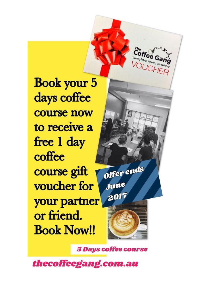 Book your 5 days coffee course now to receive a free 1 day coffee course gift voucher for your partner or friend. Book Now!! #thecoffeegang #thecoffeeganginhk #thecoffeeganginkl #thecoffeeganginfiji #trubarista #coffeespecial #coffeelover #giftvoucher #coffeecourse #5dayscourse #training #present #school #barista