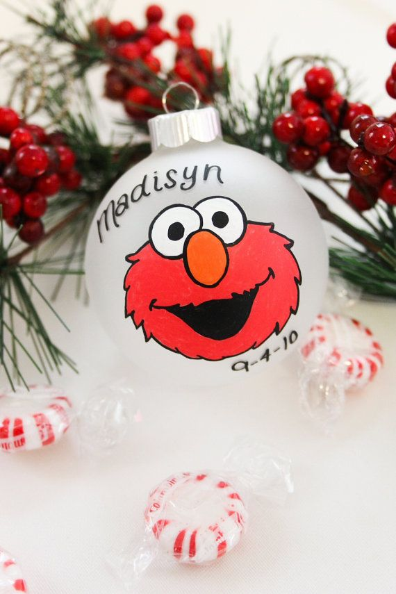 Sesame Street Elmo Christmas Ornament by BabyGeneration on Etsy, $10.00