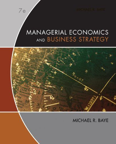 Bestseller books online Managerial Economics & Business Strategy Michael Baye  http://www.ebooknetworking.net/books_detail-0073375969.html