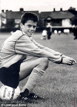 12 y.o Jamie Carragher joined Liverpool's youth team in 1990