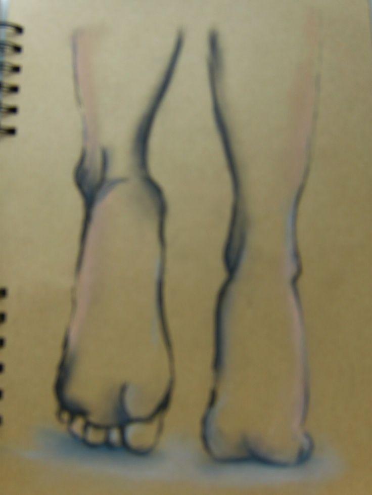 sketch foot drawing  foots pastels szkic stopy rysunek pastele