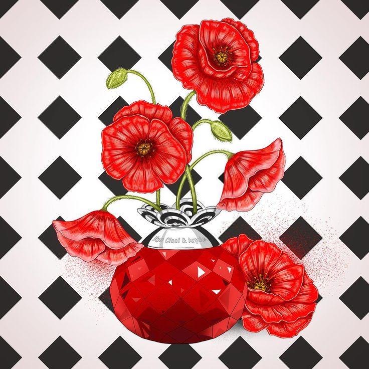 #flowers #illustration #parfum #poppy #fashion #иллюстрация #парфюмерия #мода #маки #цветы #парфюм