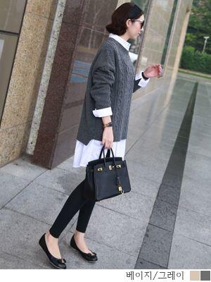 korean fashion online store [COCOBLACK] Boxy cut eonbal / Size : FREE / Price : 51.67 USD #korea #fashion #style #fashionshop #cocoblack #missyfashion #missy #top #dailylook