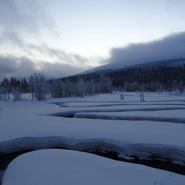 Joen kiemurat #pallasyllastunturinkansallispuisto #nationalparks #talvi #winter #snow #laplandfinland
