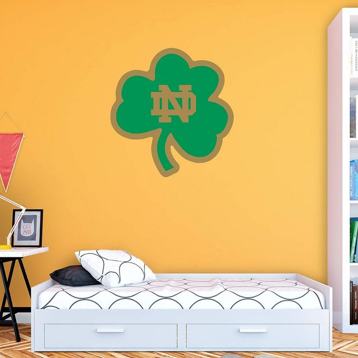 Notre Dame Fighting Irish Green Logo Wall Decal by Fathead, Multicolor
