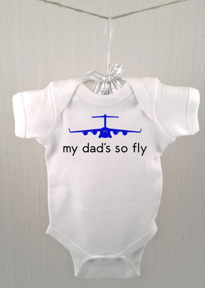 """So fly"" - Choose from a range of customizeable options on this cute, funny shirt for babies and kids. Specify ""mom's so fly"" or ""dad's so fly"" at checkout, along with whether you'd like matte blue or"