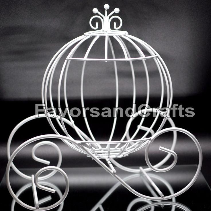 Cinderella Pumpkin Carriage Wedding Wire Centerpiece Coach Carroza de Cenicienta #FavorsandCrafts