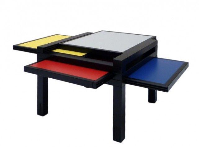 table mondrian sculpture jeux design pinterest tendance deco les tendances et porte coup e. Black Bedroom Furniture Sets. Home Design Ideas