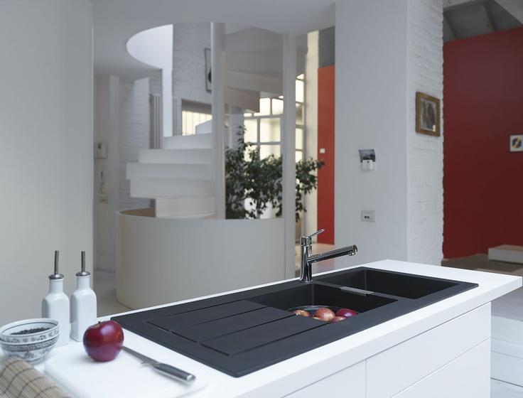 Franke Black Sink : Black Franke sink & stainless steel tap Home ideas I love ...