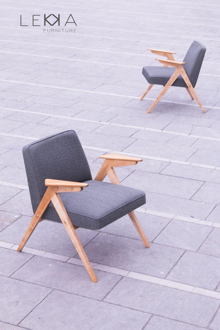 Fotel proj. Józefa Chierowskiego. Lata 60, PRL renowacja: LEKKA Furniture Armchairs designed by J. Chiherowski. age: 60s redesign: LEKKA Furniture
