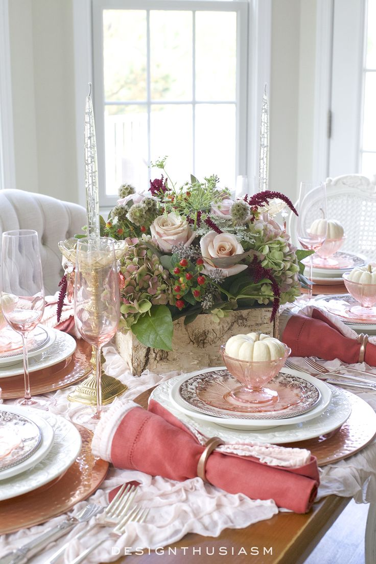 Pink christmas table decorations - Pink Christmas Table Decorations 42
