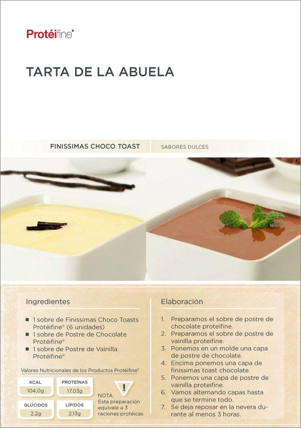 Hoy receta Tarta de la Abuela | Recetas Protéifine, ideas creativas, consejos y tips sobre dieta protéica; todo lo que estabas buscando.