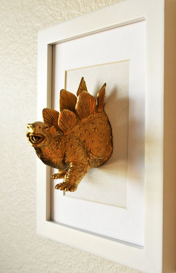 Stegosaurus Dinosaur artwork/ 5x7/ 3D art/ Plastic by Plastidermy