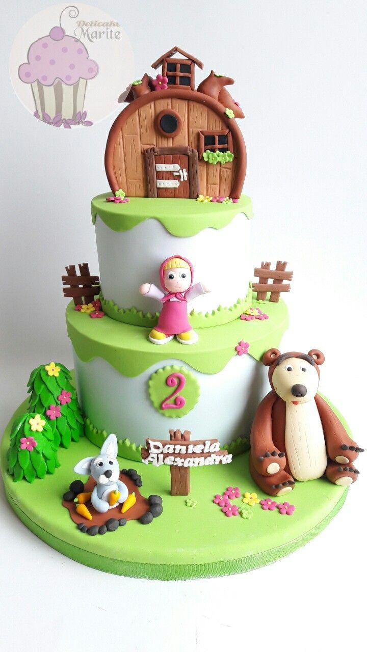 Torta de Masha y el oso