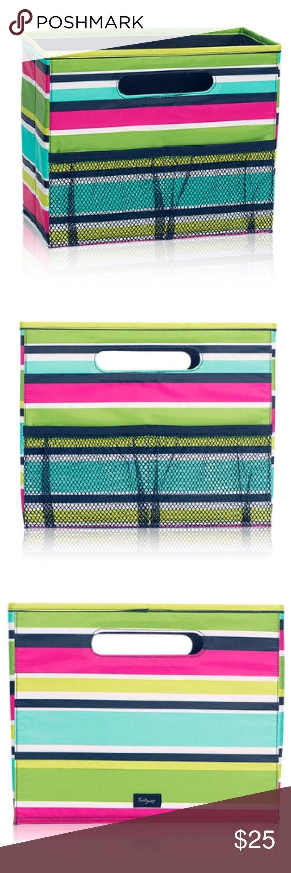 🆕Listing! Thirty-One Fold N' File Organizer Stay organized at home or in the office with the Fold N' File. Perfectly sized to hold hanging file folders, it's a great storage option for any papers you need to have quick access to. Easy-carry cut-out handles make it a breeze to take your work with you. It makes a great storage space for cleaning supplies, toys, DVDs and video games, decorations, craft supplies and more! Collapses easily when not in use. Sized to fit standard hanging file…