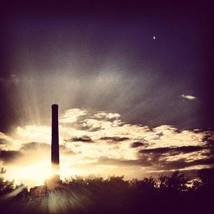 Glorious sunshine. Poznan, Poland