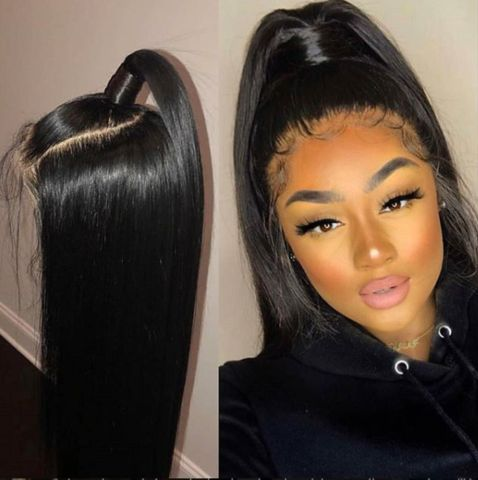 Best Quality Deep Wave Lace Front Human Hair Wigs With Baby Hair Pre Plucked Bleached Knots
