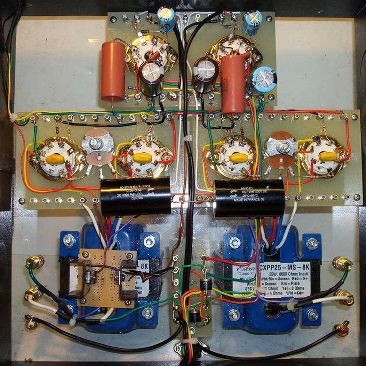 6SL7 SRPP / KT77 Push-Pull DIY Tube Amp - Inside | Audio ...