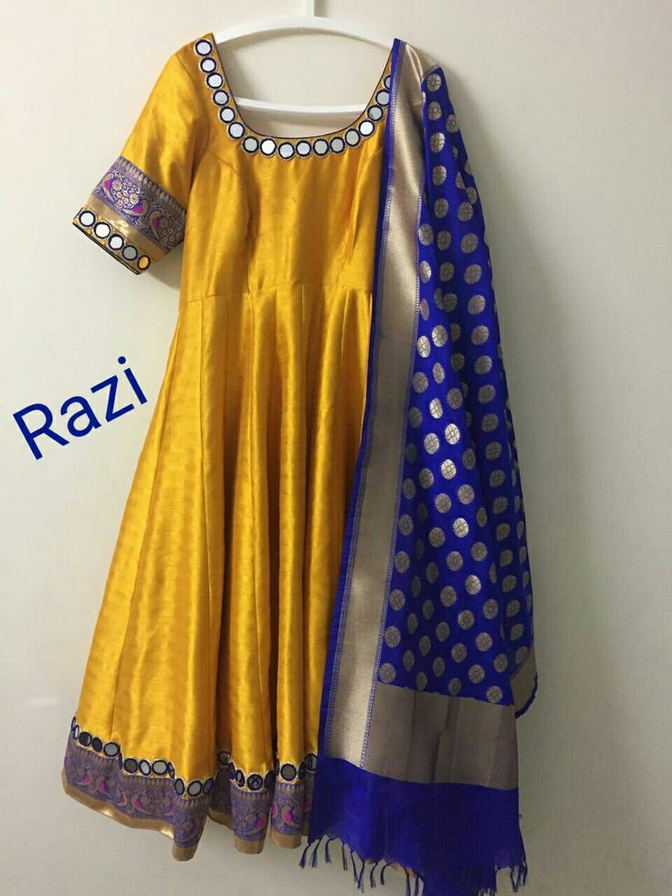 Anarkali with banaras dupatta