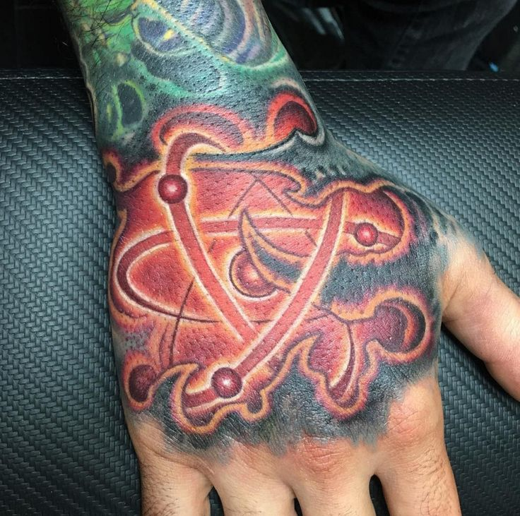 Amazing Bio Organic Tattoo Design With Color Tattoo Design For Hand Tattoo Ideas