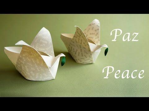 ▶ Origami Peace-Dove Box :: Cajita Paloma de la Paz - YouTube