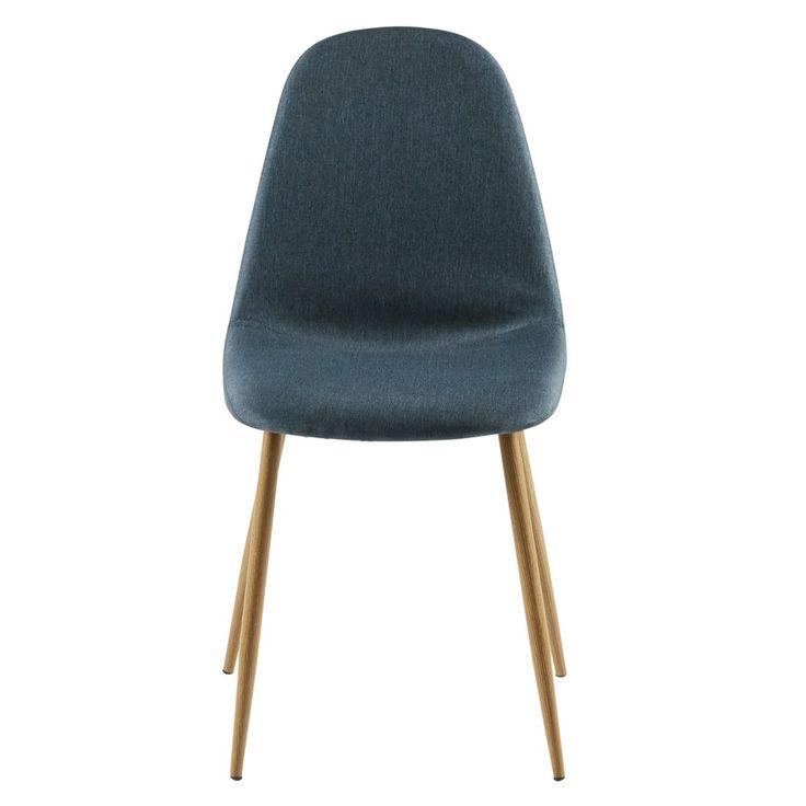Chaise en tissu bleu jean   Maisons du Monde