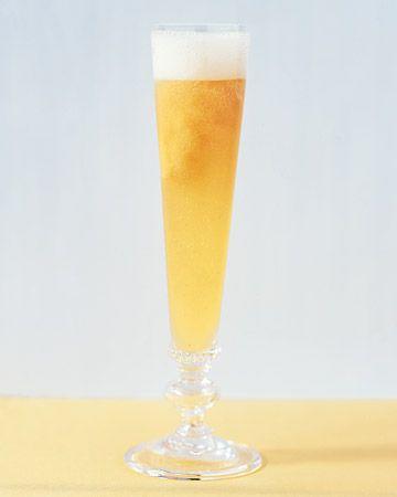 Semifreddo Bellini-peachy twist to champagne