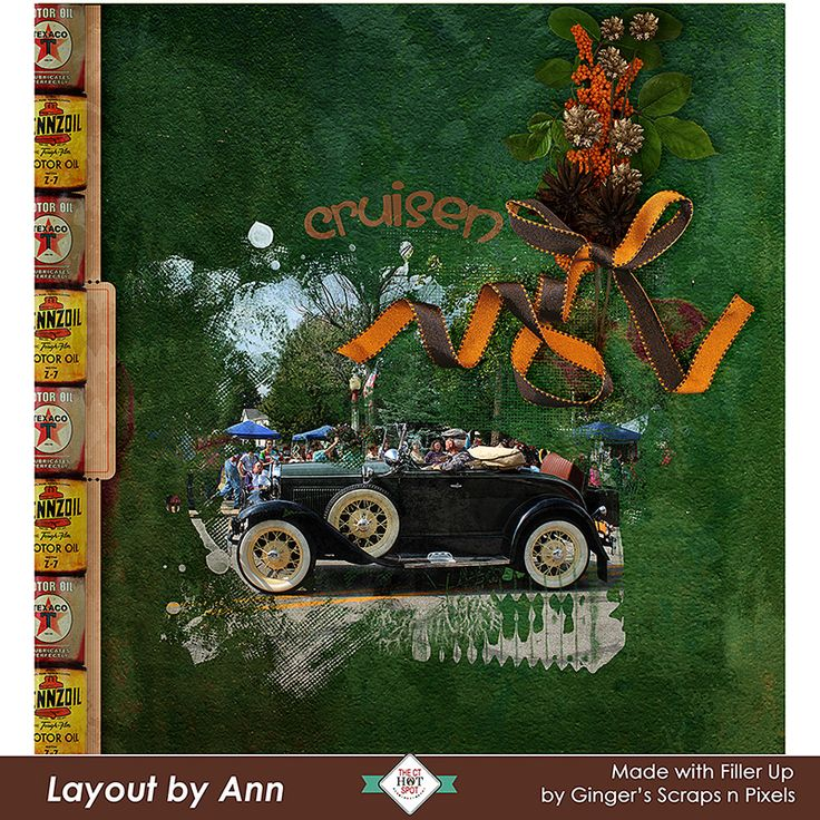 Do you love vintage? Then Filler Up by #GingerScrap'snPixels is the perfect kit.  Filled with elements from the from the 50's, as well as vintage signs and vehicles.  Perfect for travel photos, or the Vintage car lovers. Grab it while it is on sale for up to 45% off thru September 8th at #goditialscrapbooking  #CTHS #digitalscrapbooking