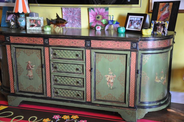Chinoiserie Media Cabinet