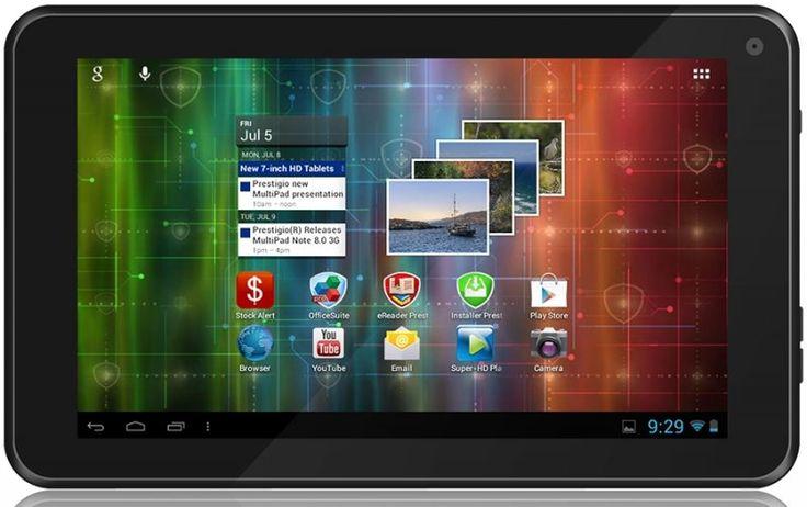 Tulajdonságok: Prestigio MultiPad 7.0 ULTRA +: ARM Cortex A8 Allwinner A13 1GHz Single Core 512MB DDR3 4GB, 7.0