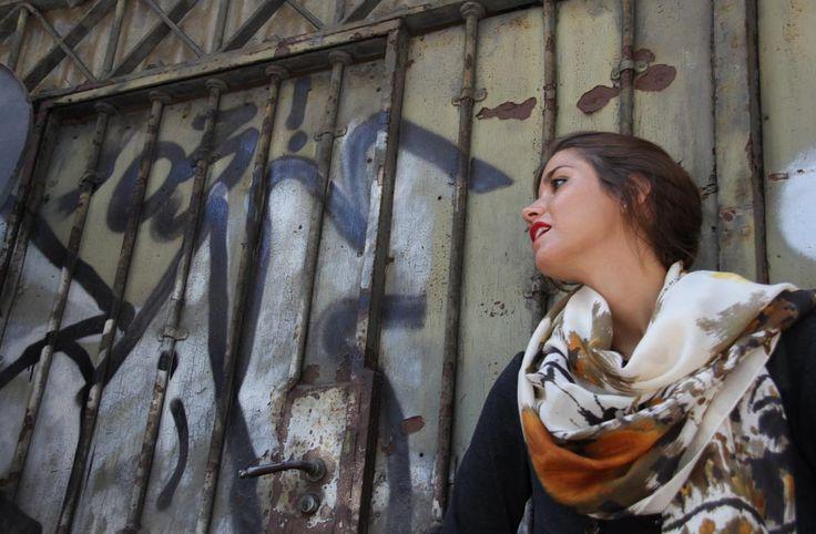 Audrey scarf by Marina Finzi Creazioni Discover our accessories on shop.marinafinzi.com #MadeinItaly