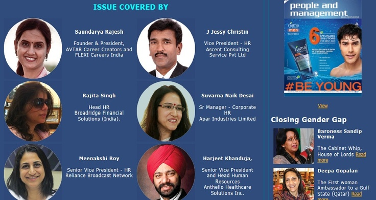 Harjeet part of cover story for people and management magazine.