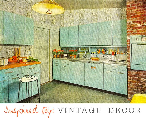 16 best images about vintage decor on pinterest vintage color schemes red stripes and vintage - Vintage kitchen ...