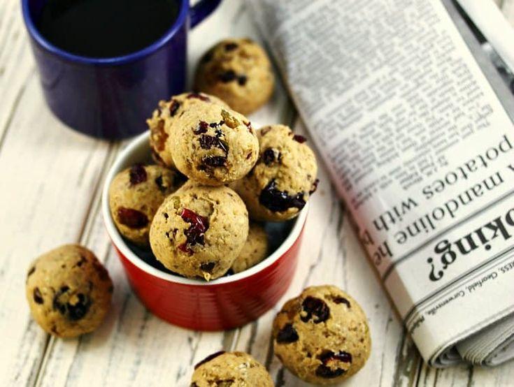 Vegan and Gluten-Free Oatmeal Cookie Bites | eat healthy, eat happy