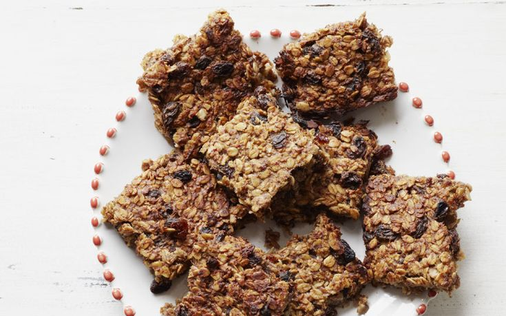These flapjacks are naturally sweetened with banana, honey and raisins for a   healthier take on the classic