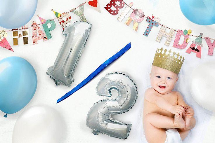 Amazon | 男の子 誕生日 パーティー 飾り プリンス 王冠 ハーフバースデー1歳 2歳 3歳 プレゼント (ボーイズ1・2・3) | 紙吹雪・飾り・クラッカー 通販