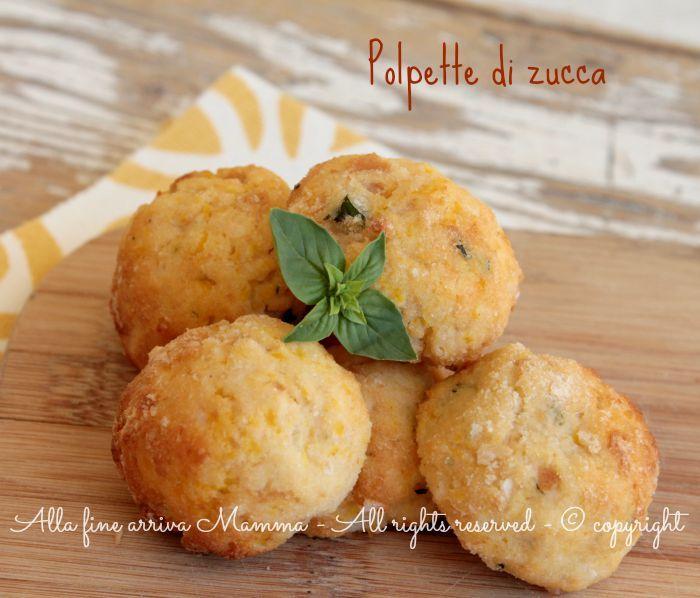 Polpette zucca al forno,antipasto sfizioso o leggero secondo piatto; ottime anche fritte, ma il modo più salutare di cucinarle è al forno. Ricetta con zucca