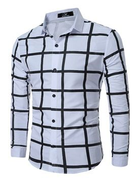 264b6404b christmas comes early*****( 68% off) Plaid Single-Breasted Long Sleeve Men's  Casual Shirt men's casual shirt brands names list mens casual shirt button  down ...
