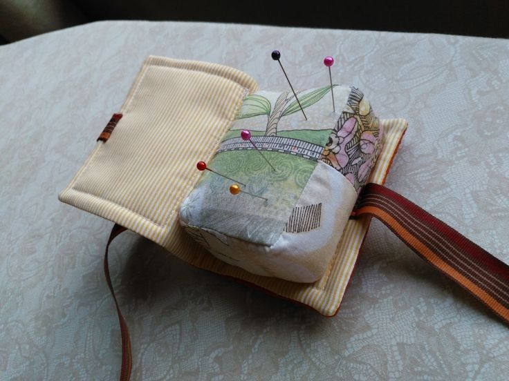 a part of kniteer's carry-all set/   book pincushion