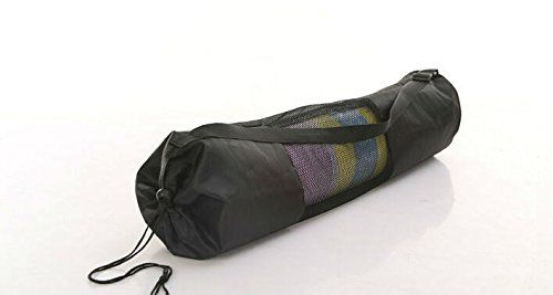 Dedicated yoga mat mesh bag Black *** See this great product.