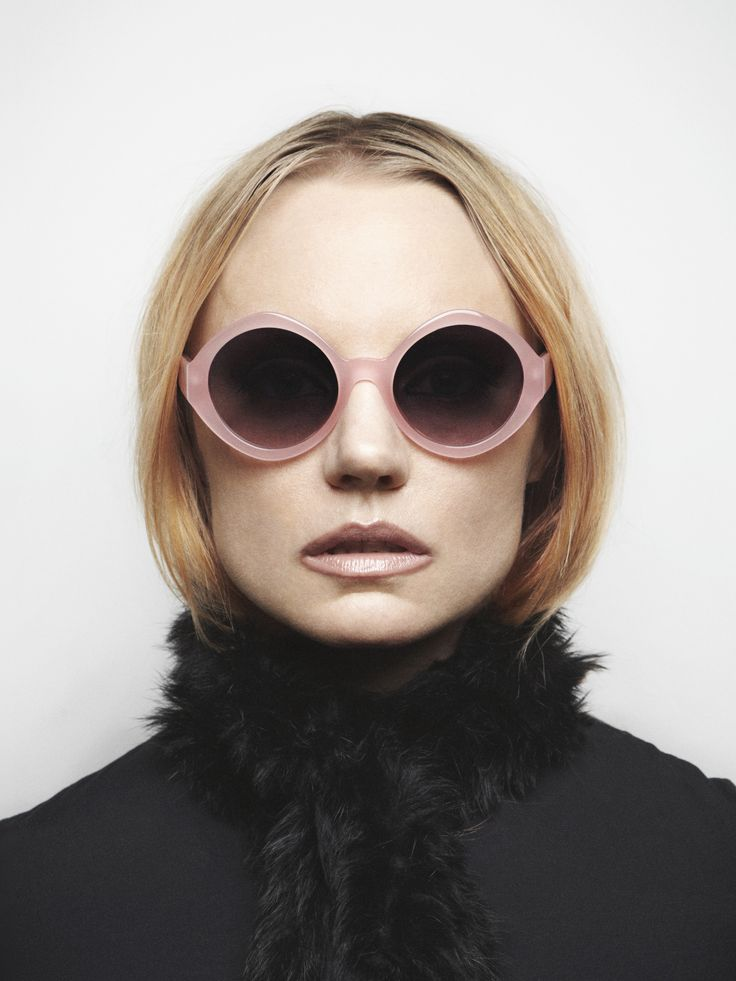 "Artist Anna Uddenberg wearing ""Coco"" from Oscar Magnuson Spectacles. Photo by Erika Svensson."