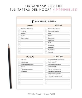 Os he diseñado unos imprimibles para organizar las tareas del hogar fácilmente! Tus tareas diarias, semanales y mensuales organizadas.